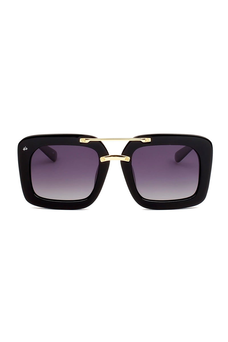 The Karl Oversized Square Polarized Sunglasses - Black