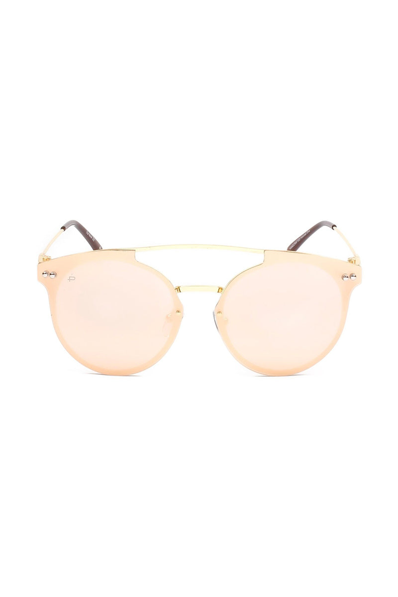 The Nova Unisex Round Aviator Sunglasses - Gold