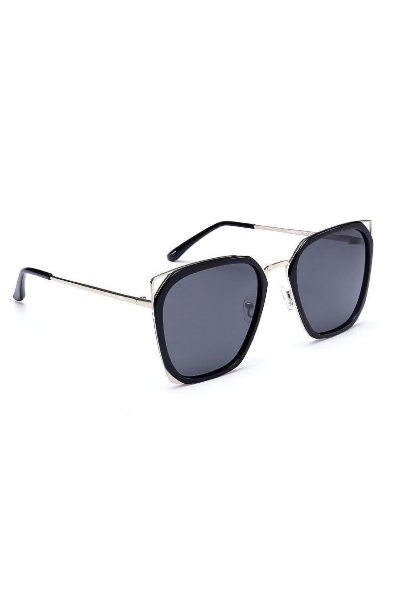 dd6fcd59094 ... PRIVE REVAUX The Queen Geometric Square Polarized Sunglasses - Black -  undefined undefined