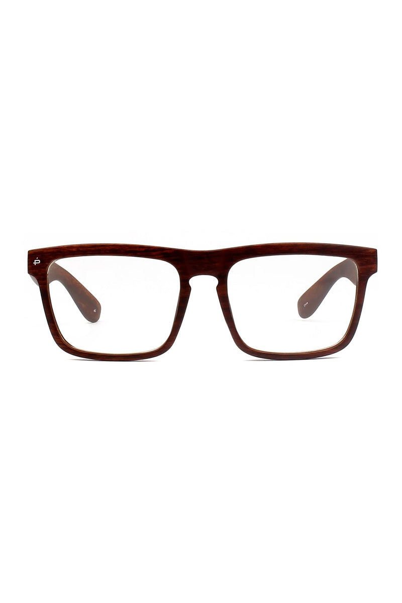 The Savant Woodgrain Polarized Unisex Glasses - Brown