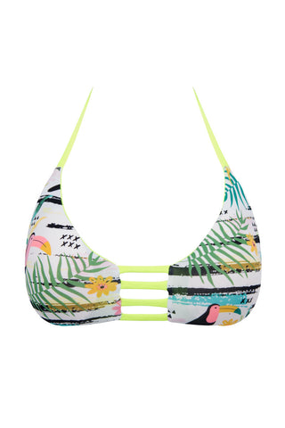 KHONGBOON Vendee Top Bikini Top | Toucan Print| Khongboon Vendee Top