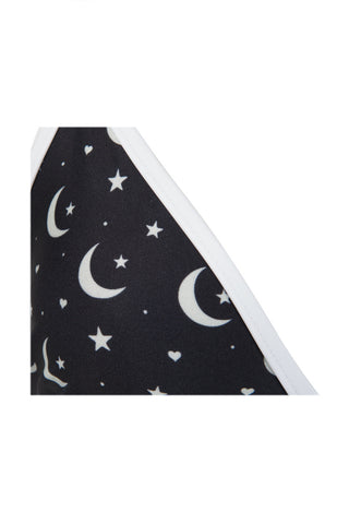 WILDFOX Moon & Star Triangle Bra Top Bikini Top | Moon Star Print|
