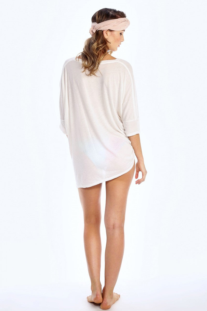 WILDFOX Coconut Sunday Morning Tee Cover Up | Vintage Lace|