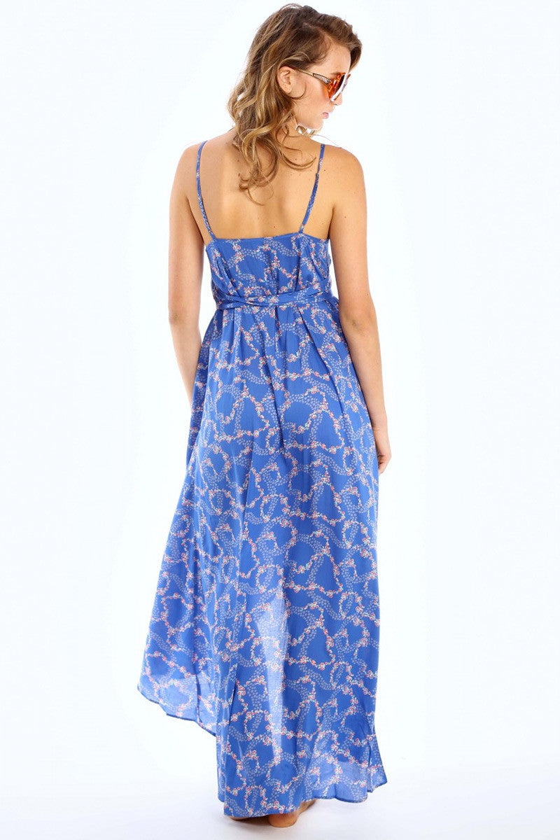 WILDFOX Atlantis Dress Cover Up | Starry Blue Floral|