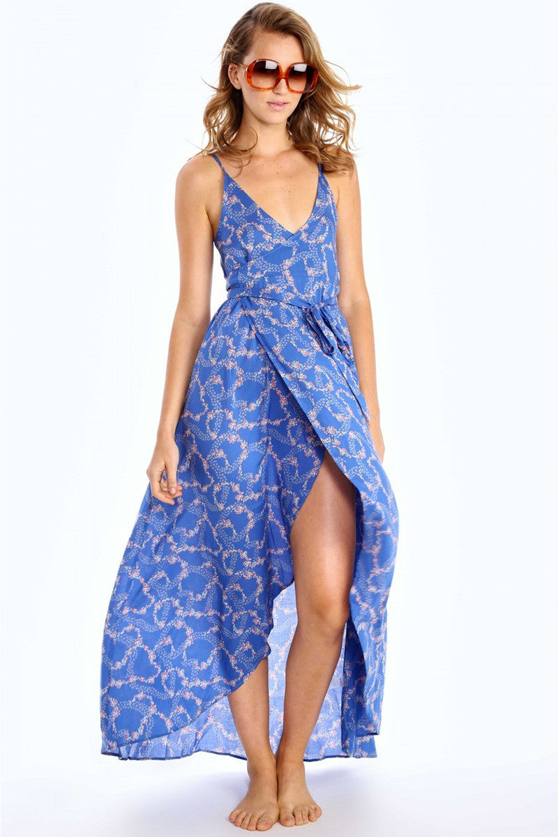 WILDFOX Atlantis Dress Cover Up | Starry Blue Floral| Wildfox Atlantis Dress
