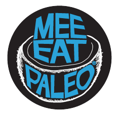 "Mee Eat Paleo 2"" Circle Sticker"