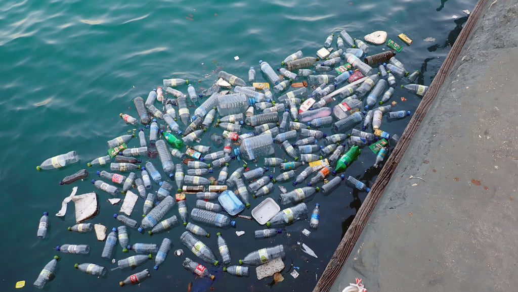 plastic bottles and environmental pollution in the ocean
