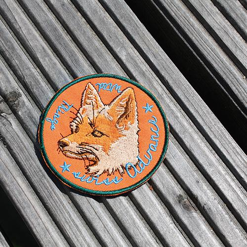 FOXY ORANGE Cotton Patch Accessory- Swiss Advance - zero waste packaging - sustainable design
