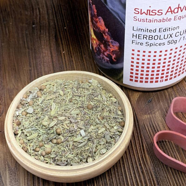 HERBOLUX Fire Spices Spices- Swiss Advance - zero waste packaging - sustainable design