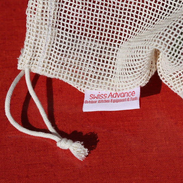 MONYI M Organic Cotton Mesh Bags (3x) Accessory- Swiss Advance - zero waste packaging - sustainable design