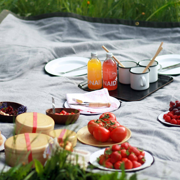 NEMICO Multifunctional Picnic Blanket Textiles- Swiss Advance - zero waste packaging - sustainable design