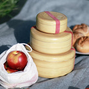 NEW PHORA Bamboo Lunch Box Natural Tableware- Swiss Advance - zero waste packaging - sustainable design