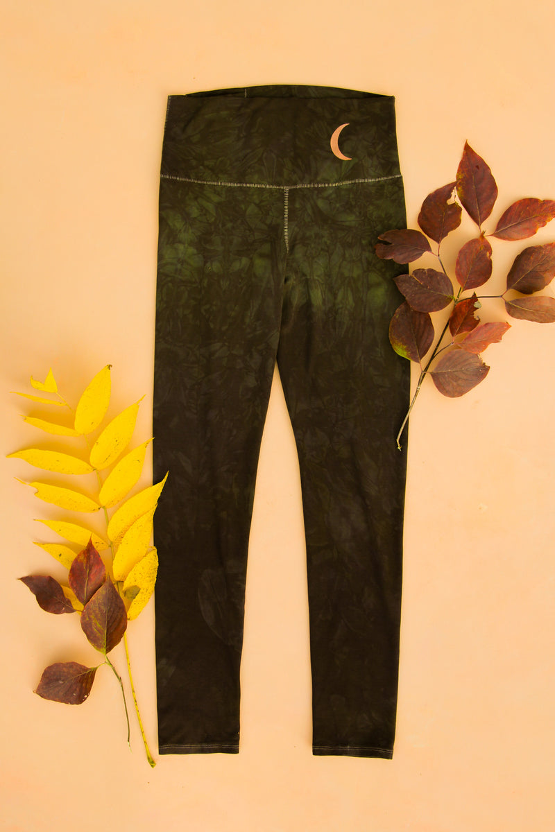 Shadow Magick Forest Fiber Leggings $99 purusha people sustainable lyocell tencel eucalyptus fabric