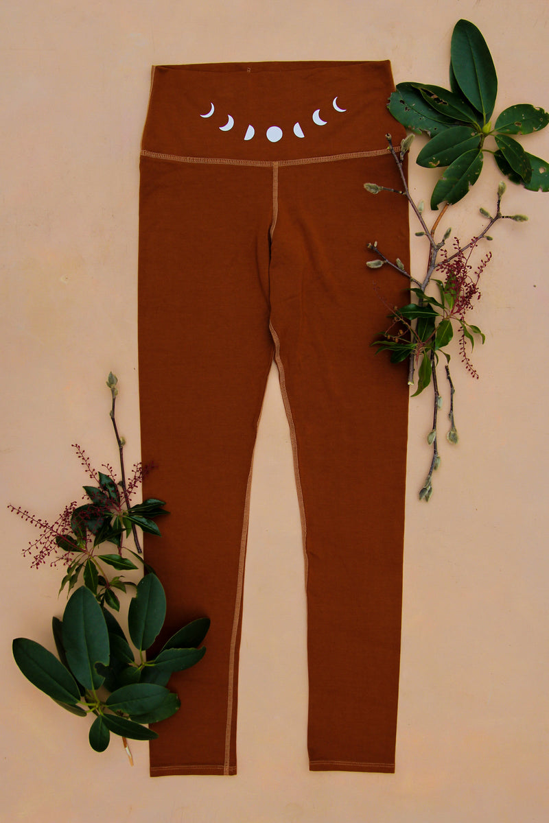 Redwood Moon Eucalyptus High Waist Leggings $106 purusha people sustainable lyocell tencel eucalyptus fabric