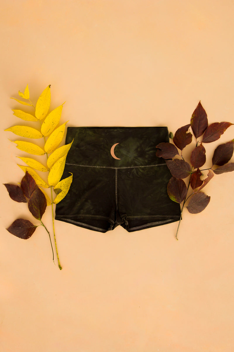 Shadow Magick Forest Fiber Shorts $64 purusha people sustainable lyocell tencel eucalyptus fabric