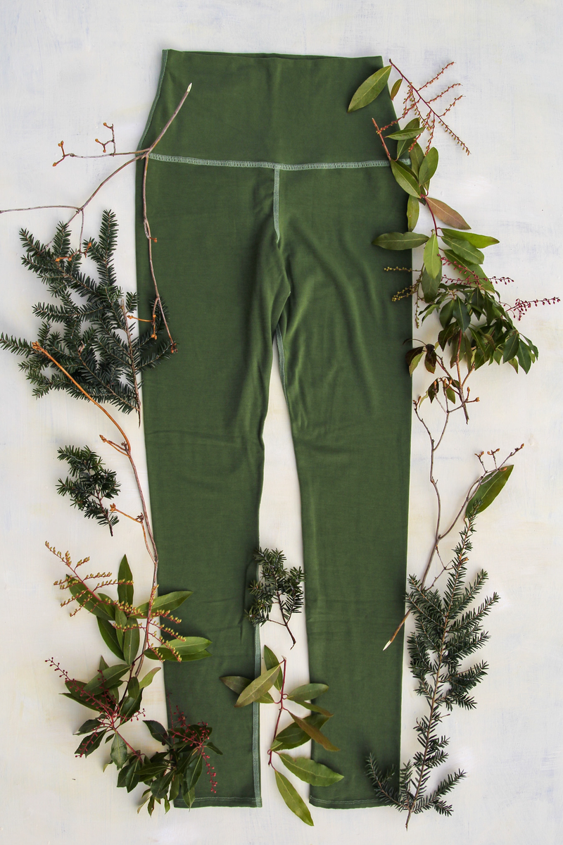 Fern Luna Moth Forest Fiber Leggings
