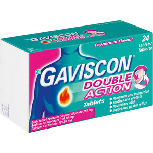 Gaviscon Double Action Tablets Peppermint 24's