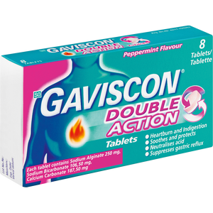 Gaviscon Double Action Tablets Peppermint  8's
