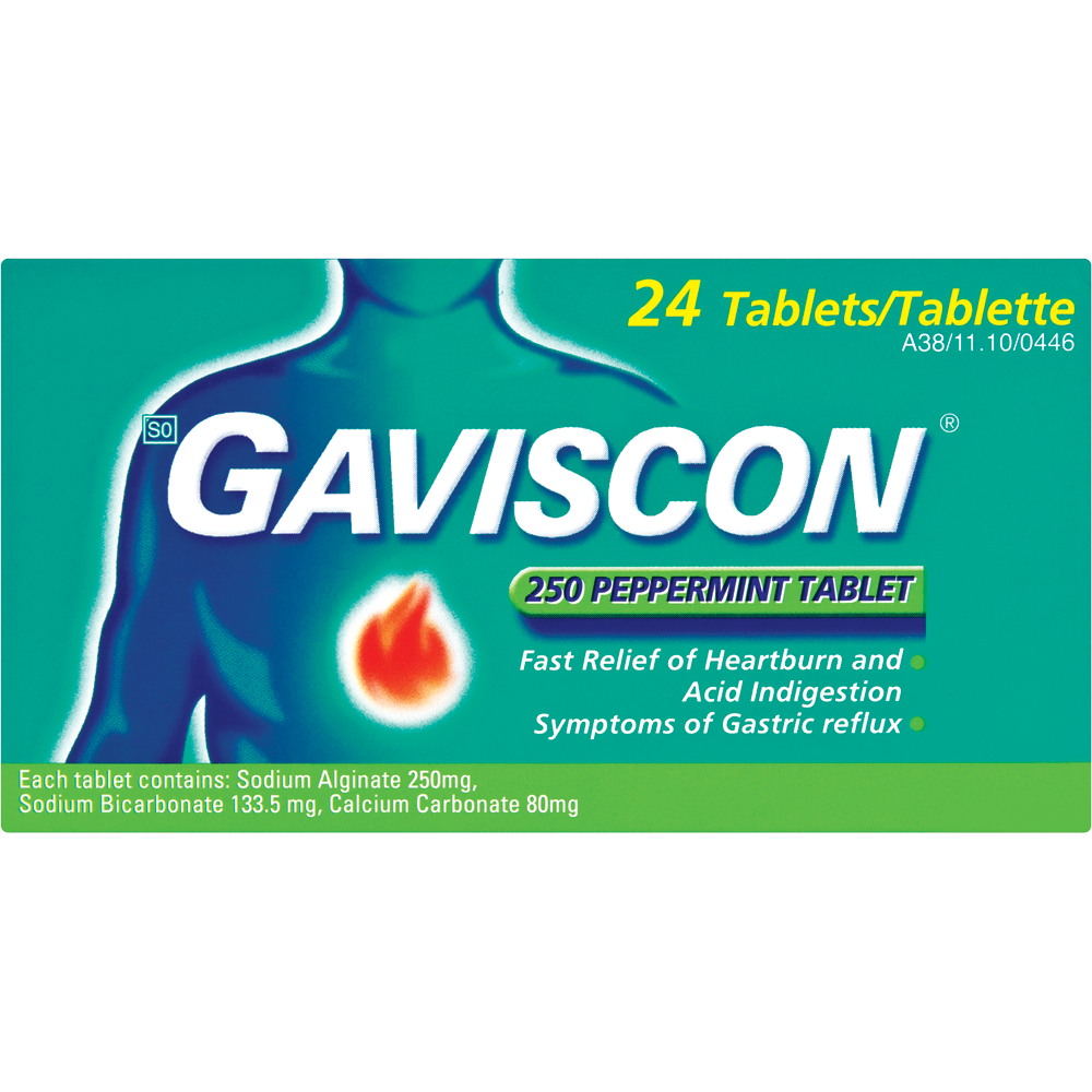 Gaviscon Original Peppermint Tablets 24's
