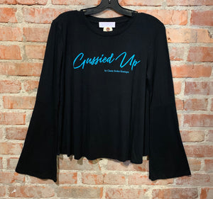 Gussied Up Bell Sleeve T-shirt - Black