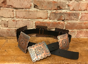 Copper & Turquoise Toned Concho Belt