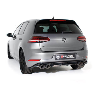 VW Golf Mk7 R - Remus Axle-Back Exhaust System - 2017-2018 without GPF