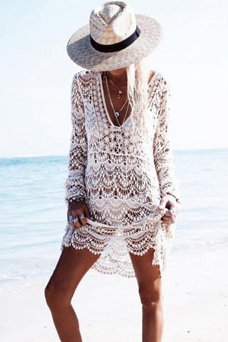 Boho Crochet Tunic Cover Up BW100
