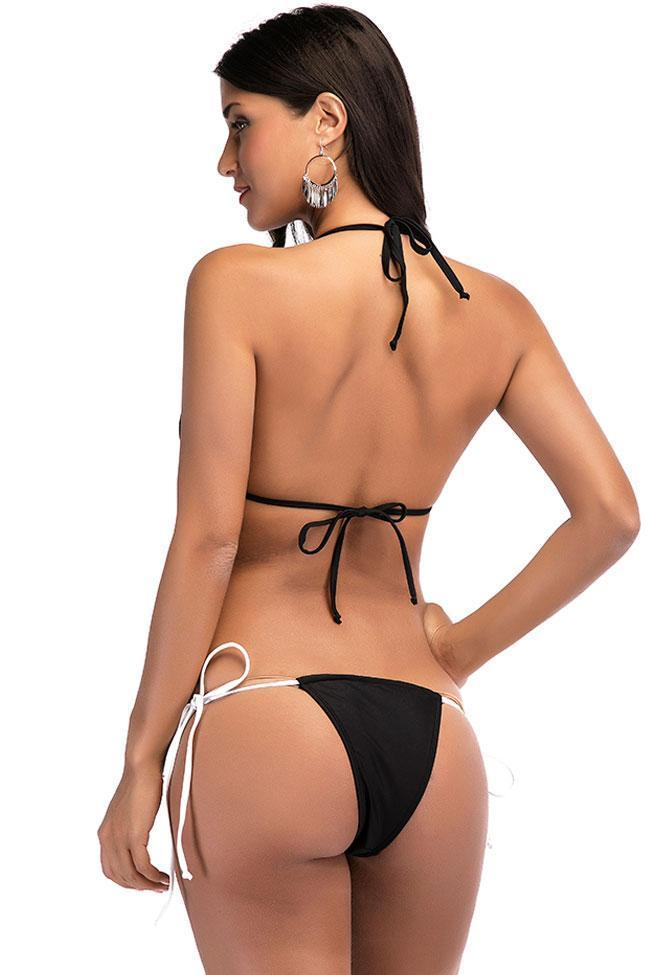 Charming Spaghetti Straps Tie Side Swimsuit SB313