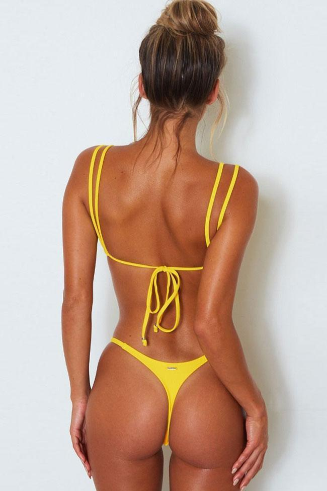 Double Strappy Thong Brazilian Bikini Swimsuit SB26