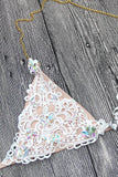 Luxury Rhinestone Triangle Bikini Swimsuit SB11