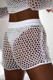 Cover Up Shorts Holiday Net Crochet BW038