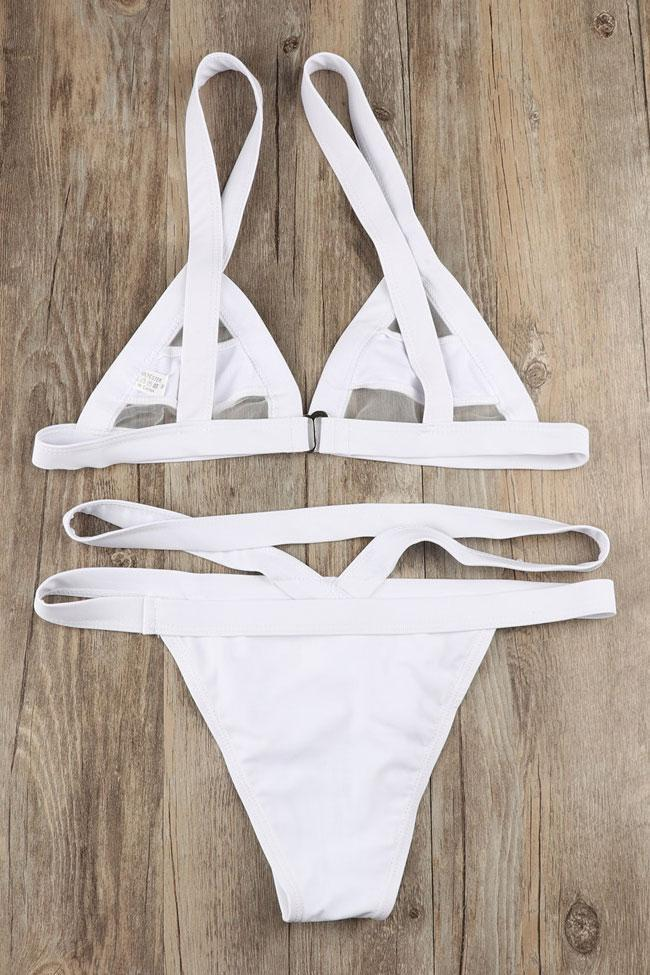 Unique Bikini Set Splicing Mesh Triangle Thong Swimsuit SB37