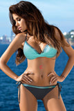Halter Bikini Set Triangle High Waist Tie Side Bottom Swimwear SW1910-2