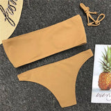 Sexy Bandeau Bikini Knitted Beach Holiday Swimsuit SW838