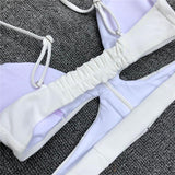 Sexy White Thong Bikini Swimming Suit for Women Bathing Suits SW938