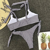 Timeless Scoop High Cut High Waisted Cheap Bikini Set B0034