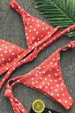 Refreshing Polka Dots Triangle Bikini Sets SB336