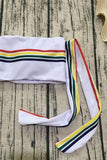 Rainbow Strappy Stripe Bandeau Bikini Sets SB318