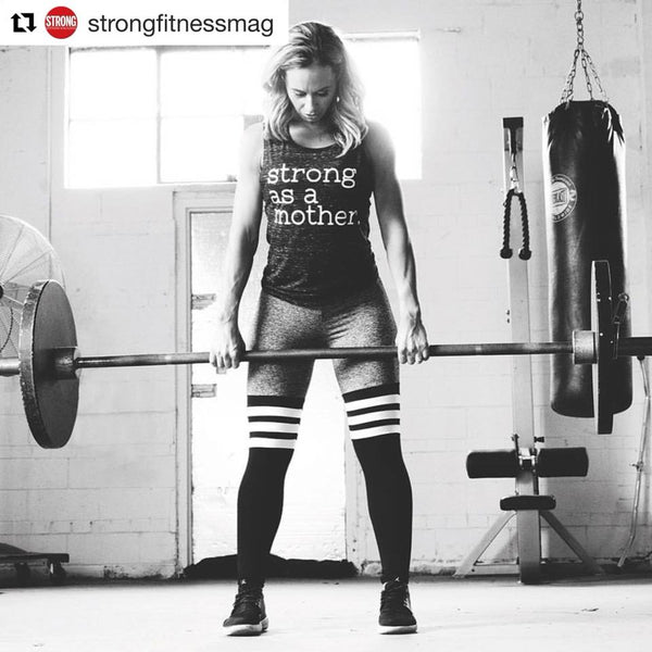 Strong as a Mother Muscle Tank in Grey