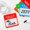 Name Tag Coaster Pads