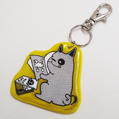 While You Weren't Home Reflector Keychain