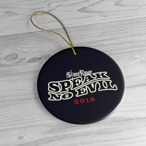"""Speak No Evil"" StoneRowe Circle Ornament"