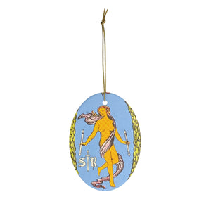 """The World"" Tarot Oval Ornament"