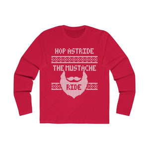 """Hop Astride The Mustache Ride"" Ugly Tee"