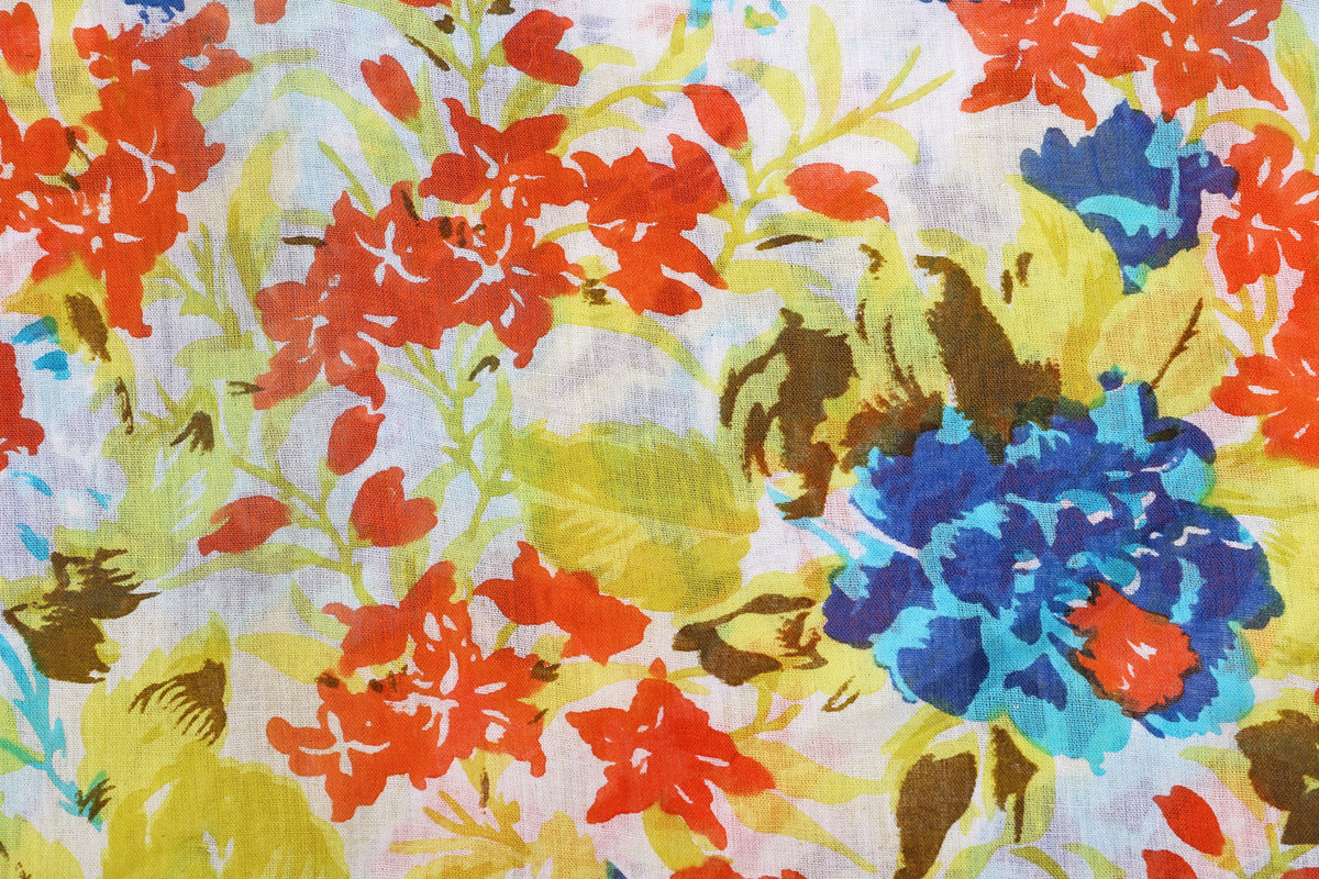 Floral Print Pure Cotton Fabrics 249/meter