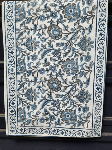 Pure Cotton Hand-Block Print Dining Table Runner