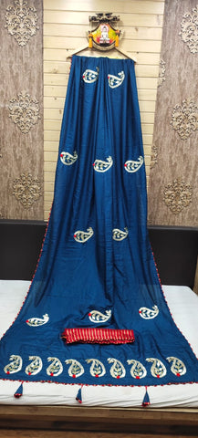 Soft Dola Silk Gota Patti Hand Work Saree