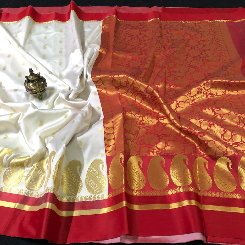 Maheswari Silk Saree With Running Blouse ( length- 6.3 meter )