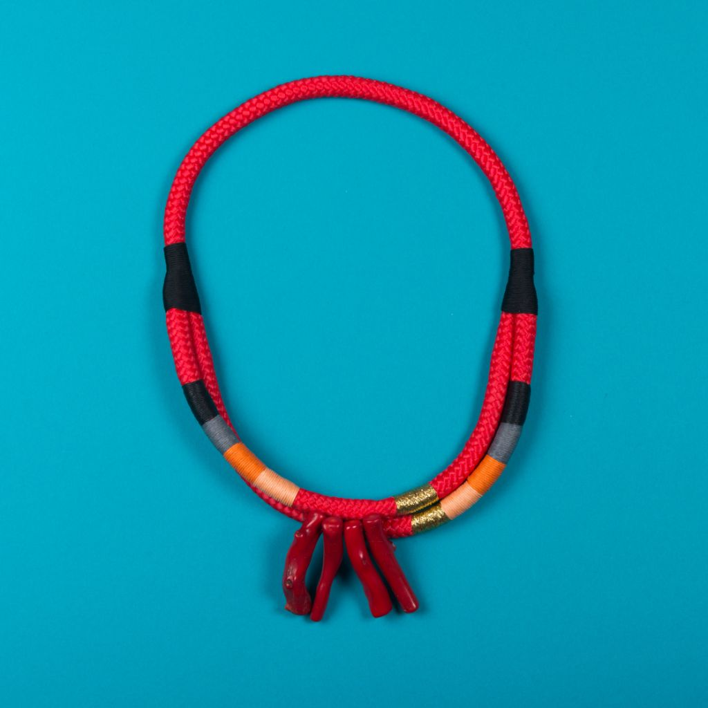 Coral Double Ndebele Necklace