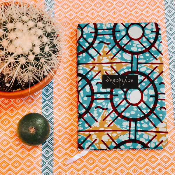 Notebook - Turquoise, Mustard, Red